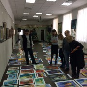 Экзаменационные просмотры работ студентов по живописи, рисунку , композиции